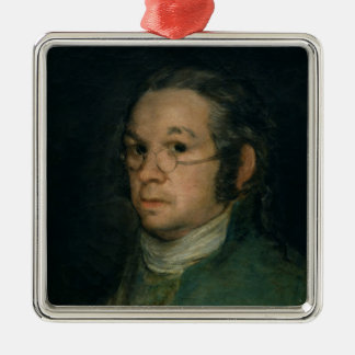 Self portrait with spectacles c 1800 christmas ornaments