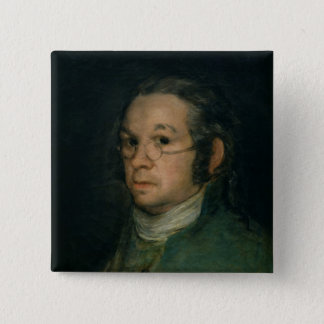 Self portrait with spectacles, c.1800 pinback button