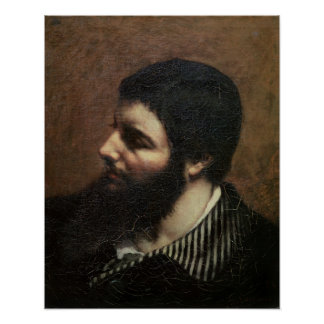 Self Portrait with Striped Collar Poster