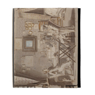 Self Portrait with Two Young Men (pen & brown ink iPad Case