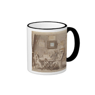 Self Portrait with Two Young Men (pen & brown ink Ringer Coffee Mug