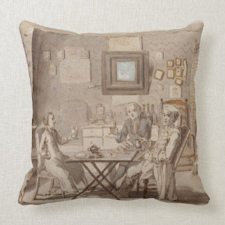 Self Portrait with Two Young Men (pen & brown ink Throw Pillows