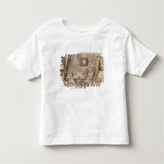 Self Portrait with Two Young Men (pen & brown ink T Shirts