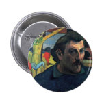 Self-Portrait With Yellow Christ By Gauguin Paul Pinback Buttons