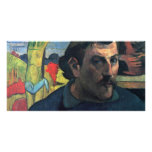 Self-Portrait With Yellow Christ By Gauguin Paul Photo Card