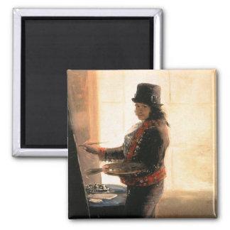 Self Portrait Workshop - Francisco de Goya Fridge Magnets