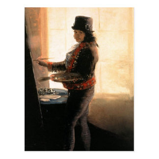 Self Portrait Workshop - Francisco de Goya Postcard