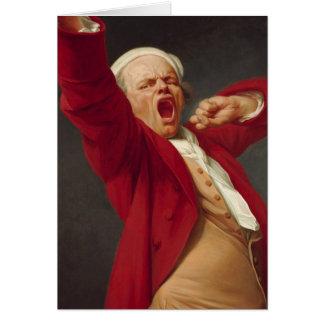 Self-Portrait, Yawning - Joseph Ducreux Card