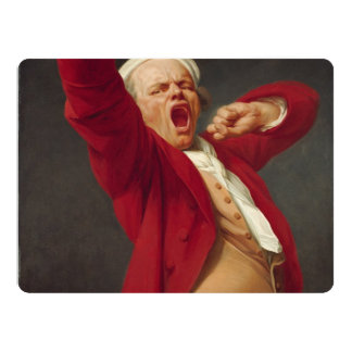 Self-Portrait, Yawning - Joseph Ducreux Card