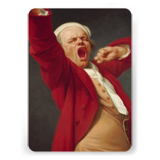 Self-Portrait, Yawning - Joseph Ducreux Personalized Invite