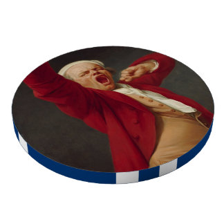 Self-Portrait, Yawning - Joseph Ducreux Poker Chips