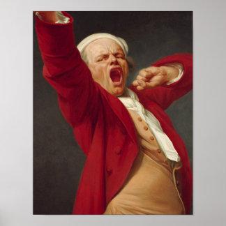 Self-Portrait, Yawning - Joseph Ducreux Poster