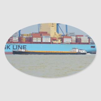 Self propelled barge SWS London Oval Sticker