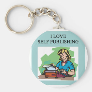 self published authors and writers keychain