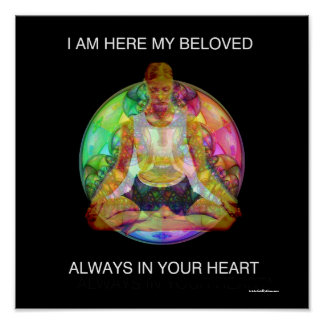 SELF REALIZATION ART POSTER MEDITATION  YOGA