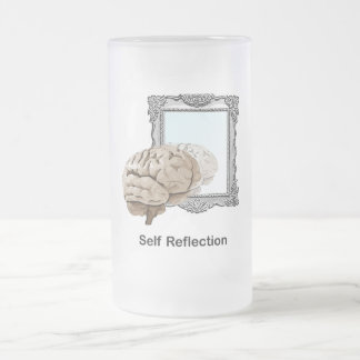 Self Reflection Frosted Glass Beer Mug
