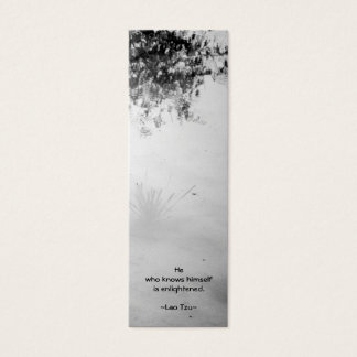 Self-reflection/ Tao-Te-Ching Bookmark Mini Business Card