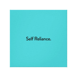 Self-Reliance Canvas Print