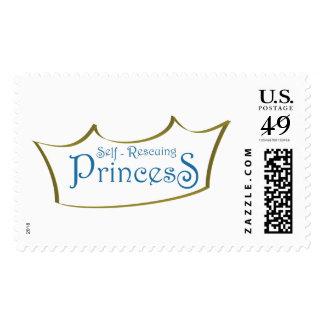 Self-Rescuing Princess Stamp