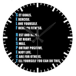 SELF-RESPECT - Motivational Large Clock