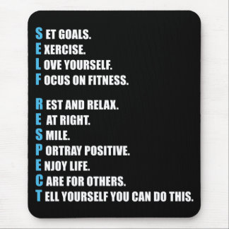 SELF-RESPECT - Motivational Mouse Pad