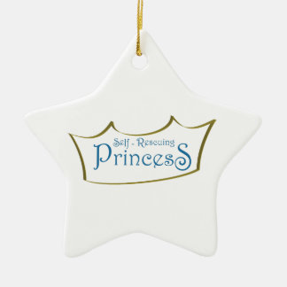 Self-Resuing Princess Double-Sided Star Ceramic Christmas Ornament