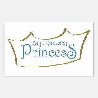 Self-Resuing Princess Rectangular Sticker