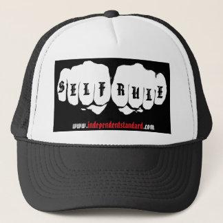 Self Rule Tattoo Knuckles Trucker Hat