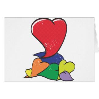 Self-Seeking Heart Greeting Card