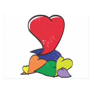 Self-Seeking Heart Postcard