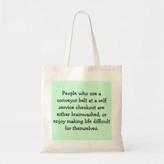 Self service checkout tote bag