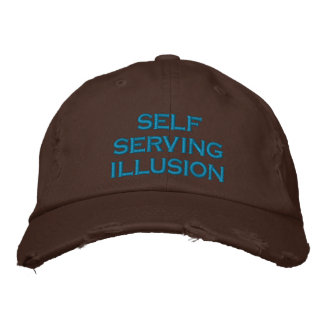 self serving illusion embroidered baseball cap