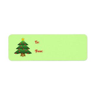 Self-Stick Christmas Gift Tag: Christmas Tree Label