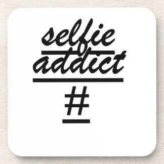 Selfie Addict Drink Coaster
