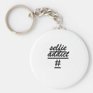 """""""Selfie Addict #"""" Keychain"""