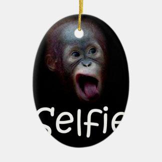 Selfie Ceramic Ornament