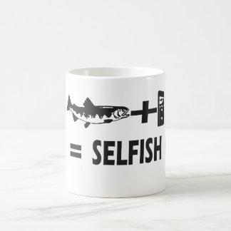 selfie de los pescados taza
