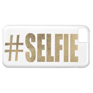 Selfie de oro carcasa para iPhone 5C