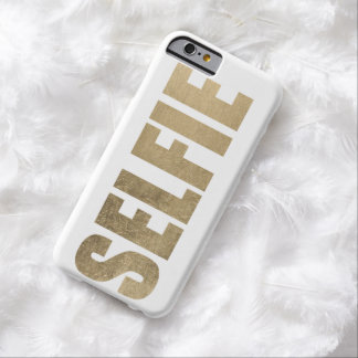 Selfie de oro funda de iPhone 6 barely there