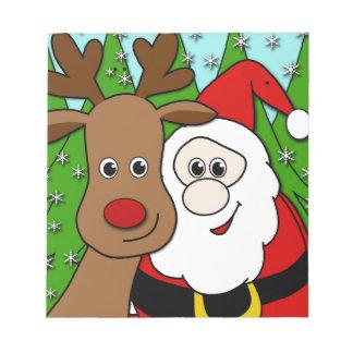 Selfie de Santa y de Rudolph Bloc De Notas