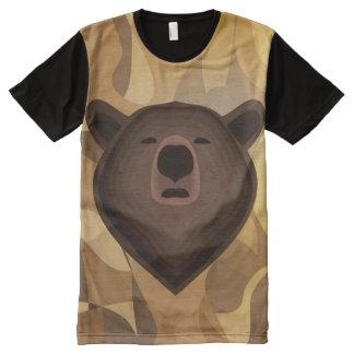 Selfie del oso de la pendiente del camuflaje