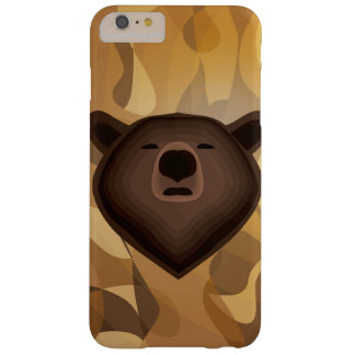 Selfie del oso de la pendiente del camuflaje funda para iPhone 6 plus barely there