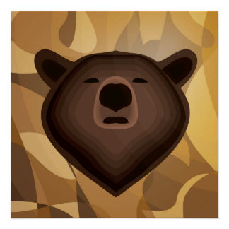 Selfie del oso de la pendiente del camuflaje perfect poster