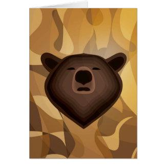 Selfie del oso de la pendiente del camuflaje tarjeta de felicitación