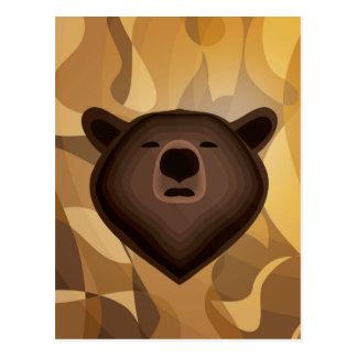 Selfie del oso de la pendiente del camuflaje tarjetas postales