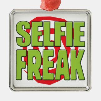 Selfie G anormal Adorno Cuadrado Plateado