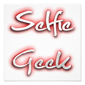 Selfie Geek Red Photograph