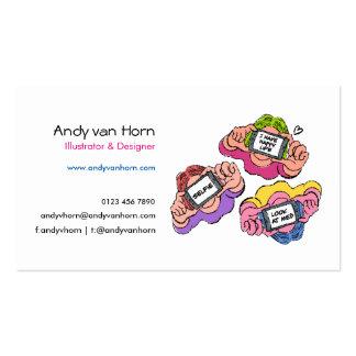 Selfie girls pop illustration for business card