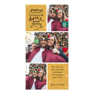 sELFie Greetings, Changeable Gold, 3 Photos Card