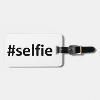 Selfie Hashtag Bag Tag